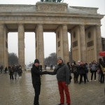 East meets West at the Brandenberg Gate.